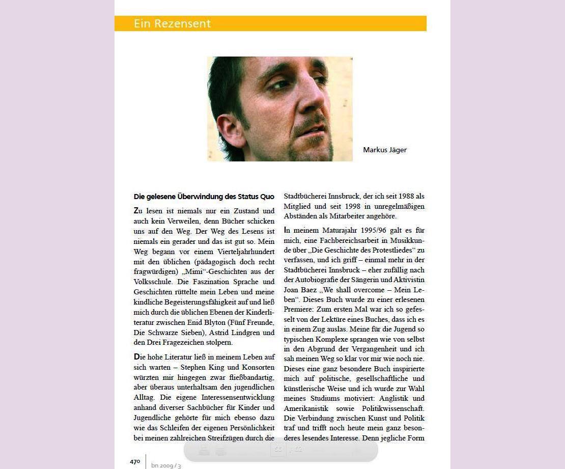 Bibliotheksnachrichten - März 2009